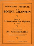 1946 Festival de la Bonne Chanson Program by l'Association des Vigilants