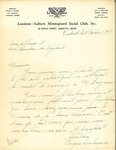 Letter from the Lewiston-Auburn Montagnard Social Club to L'Association des Vigilants by Eugene Deslauriers