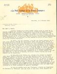 Letter from Le Petit Septour de la Bonne Chanson to Louis-Philippe Gagné by Arthur Blaquiere