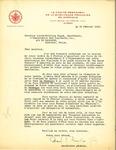 Letter from La Comité Permanent de la Survivance Française en Amérique to Louis-Philippe Gagné