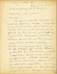 Letter from Leo E. Curran to the Association des Vigilants