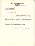 Letter from Paul Buhrer to Louis-Philippe Gagné