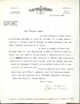 Letter from La Presse to Association des Vigilants by Jean Dufresne and Marcel Valois