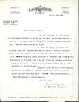 Letter from La Presse to Association des Vigilants