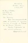 Letter from Robert D. Seward to Oliver V. Pelletier