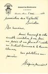 Letter from Grégoire Massé to Association des Vigilants
