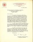 Letter fron La Comité Permanent de la Survivance Française en Amérique to the Association des Vigilants