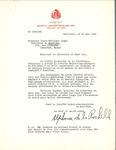 Letter from Société Saint-Jean Baptiste de Montréal to Le Messager