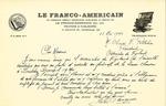 Letter from Le Franco-Americain to Association des Vigilants
