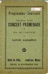 Cercle Cordaire Programme Souvenir du Cinquieme Grand Concert Promenade by Franco-American Collection