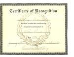 Les Jacques Cartier Inc. Certificate of Recognition