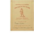 Le Club Jacques Cartier Membership Cerificate