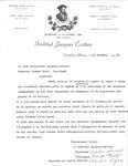 L'Insitut Jacques Cartier Letter to Armand Dutil