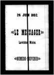 Le Messager, V13 N22, (06/24/1892)