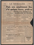 Le Messager, 65e N 132, (08/25/1944)