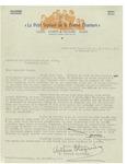 02/17/1947 Letter from Le Petit Septuor de la Bonne Chanson by Arthur Blaquiere