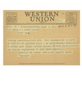 03/17/1947 Western Union Telegram by Adolphe Robert