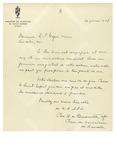 02/20/1947 Letter from Monastere des Dominicains