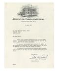 03/13/1947 Letter from Association Canado-Américaine