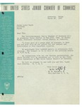 03/28/1947 Letter from the United States Junior Chamber of Commerce