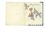 """1947 """"Congratuations"""" Card by Romeo Boisvert and Blanche Lagueux"""