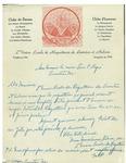 1947 Letter from l'Union Locale de Raquetteurs de Lewiston et Auburn