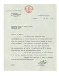 Letter from Francois Roy, Mayor of Shawinigan Falls, Québec