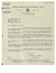 06/24/1947 Letter from l'Union Musicale de Shawinigan Falls