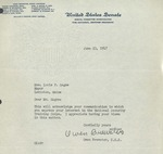 Letter from Owen Brewster, United States Senate by Owen Brewster