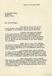 1947 Letter from Rene Brulotte, Québec