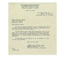 1947, Letter from John R. Fortin, War Assets Administration