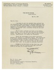Letter from Harry S. Truman,  33rd President of the United States to Dr. Roy Ross