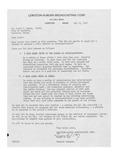 1947 Letter from Lewiston-Auburn Broadcasting Corporation