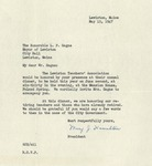1947 Correspondence Between Lewiston Teachers Association and Louis-Philippe Gagne