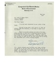 1947 Letter from Margaret Chase Smith, United States Congress