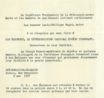 Invitation to Reception at Présentation-de-Marie by Présentation-de-Marie