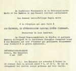Invitation to Reception at Présentation-de-Marie