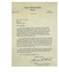 1947, Letter from Mayor George W. Welsh, United States Conference of Mayors