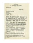 09/23/1947 Letter from M. L. Deyo, U.S. Navy