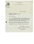 05/15/1947 Letter from Superintendent A. A. Woodworth