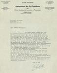 07/16/1947 Letter from Association des Ex-Presidents des Unions Canadienne et Americaine de Raquetteurs