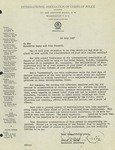 1947, Letter from Edward J. Kelly of the International Association of Chiefs of Police