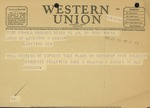 Western Union Telegram from Evariste Pelletier