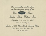 09/19-21/1947 Ford Motors Opening Invitation, Lewiston, Maine