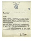 08/09/1947 Letter from the City of Auburn, Maine, Police Department by A. E. Savage
