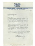 08/11/1947 Letter from the Lewiston Broadcasting Corporation