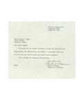 08/28/1947 Letter from Lewiston Playgrounds by Pauline Marcous