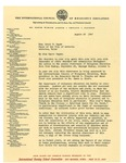 08/29/1947 Letter from the International Council of Religious Education