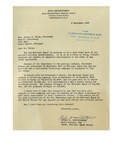 09/04/1947 Letter from the United States National Guard Bureau to George W. Welch