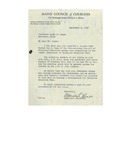 09/08/1947 Letter from the Maine Council of Churches